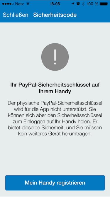 paypal new app