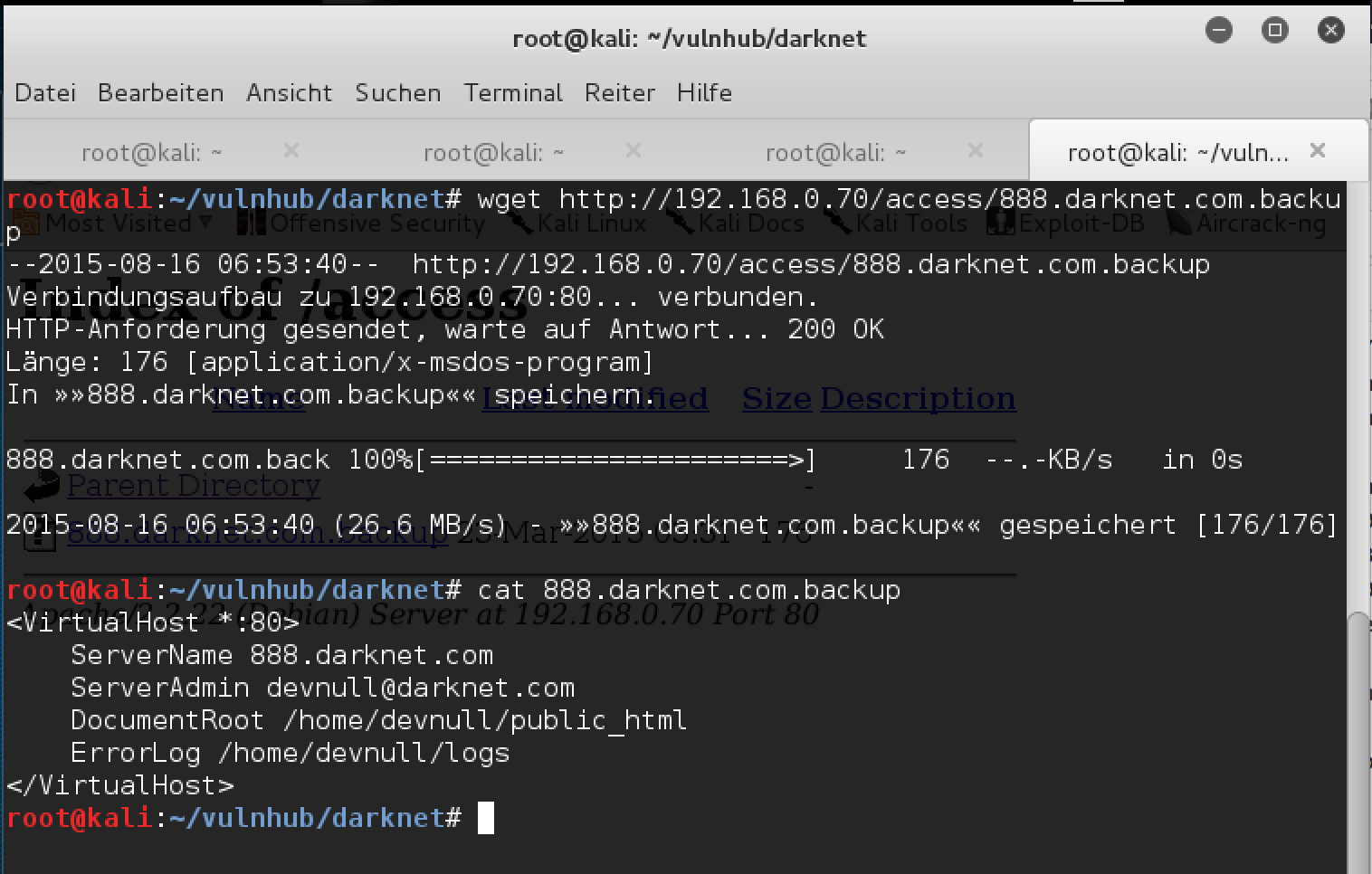 vulnhub.com writeup: Darknet | IT-Unsecurity